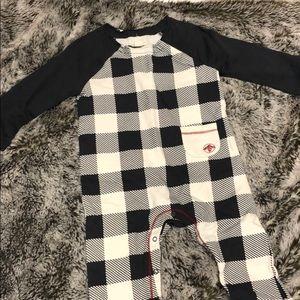 Burt's Bees baby checkered onesie